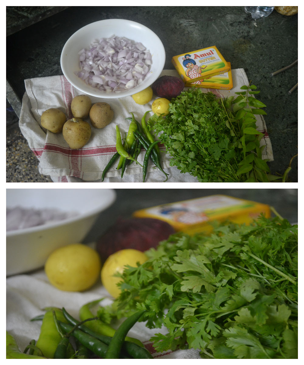 Pav Bhaji ingredients