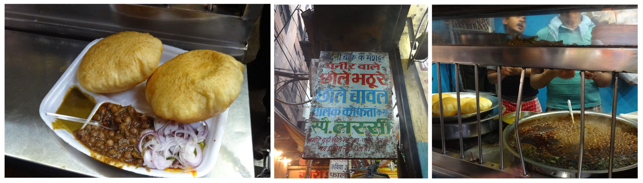 Chhole Bhatoore Delhi Food walk in Chandni Chowk
