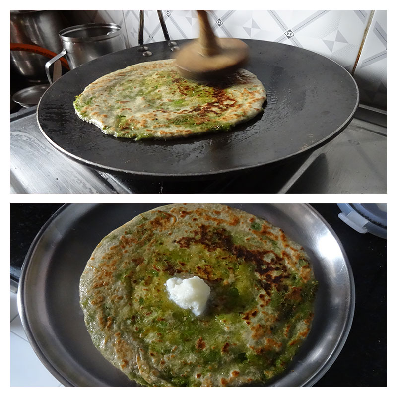 Making Green peas paratha step by step instruction