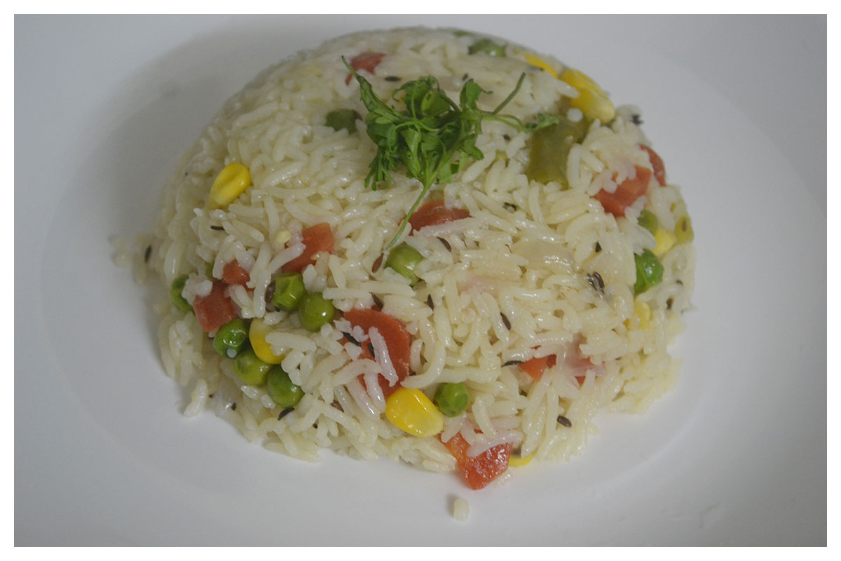 Eat the Rainbow, healthy vegetable pulao