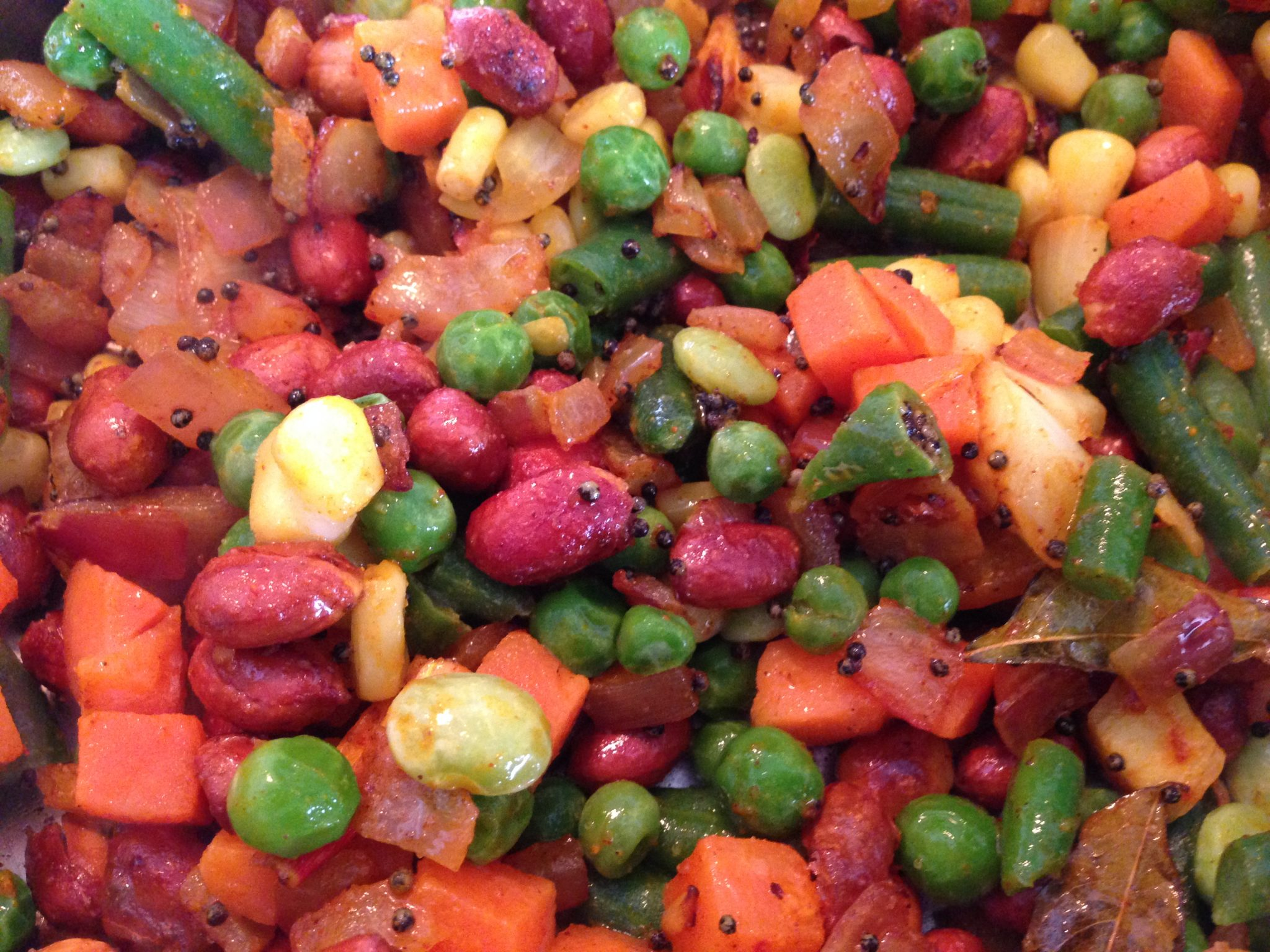 Mixed veggies and tadka