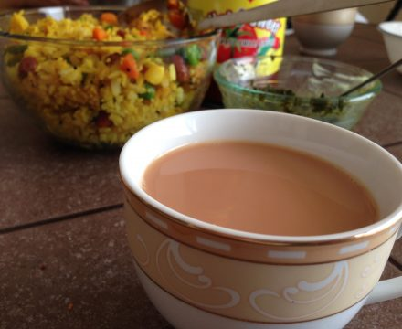 Pohe & Adrakwali Chai/ginger tea