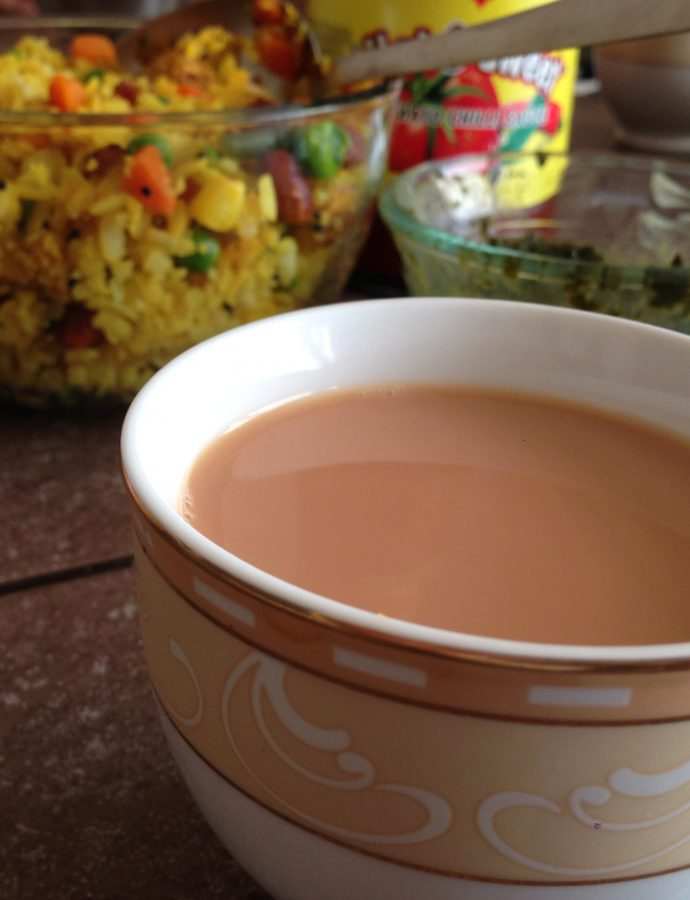 Pohe and Adrakwali Chai (Ginger Tea)