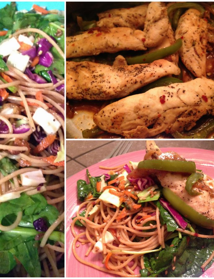 Whole Wheat Noodle Salad & Chicken Tenders