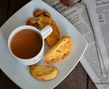Almost drunken almond biscotti