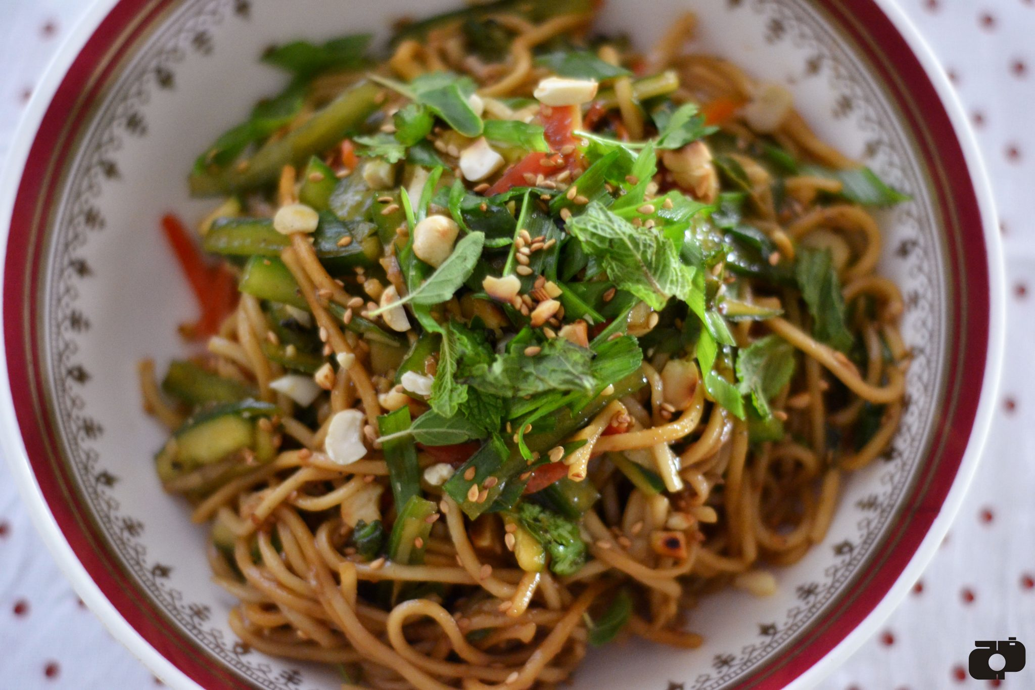 Asian style peanut noodle salad recipe