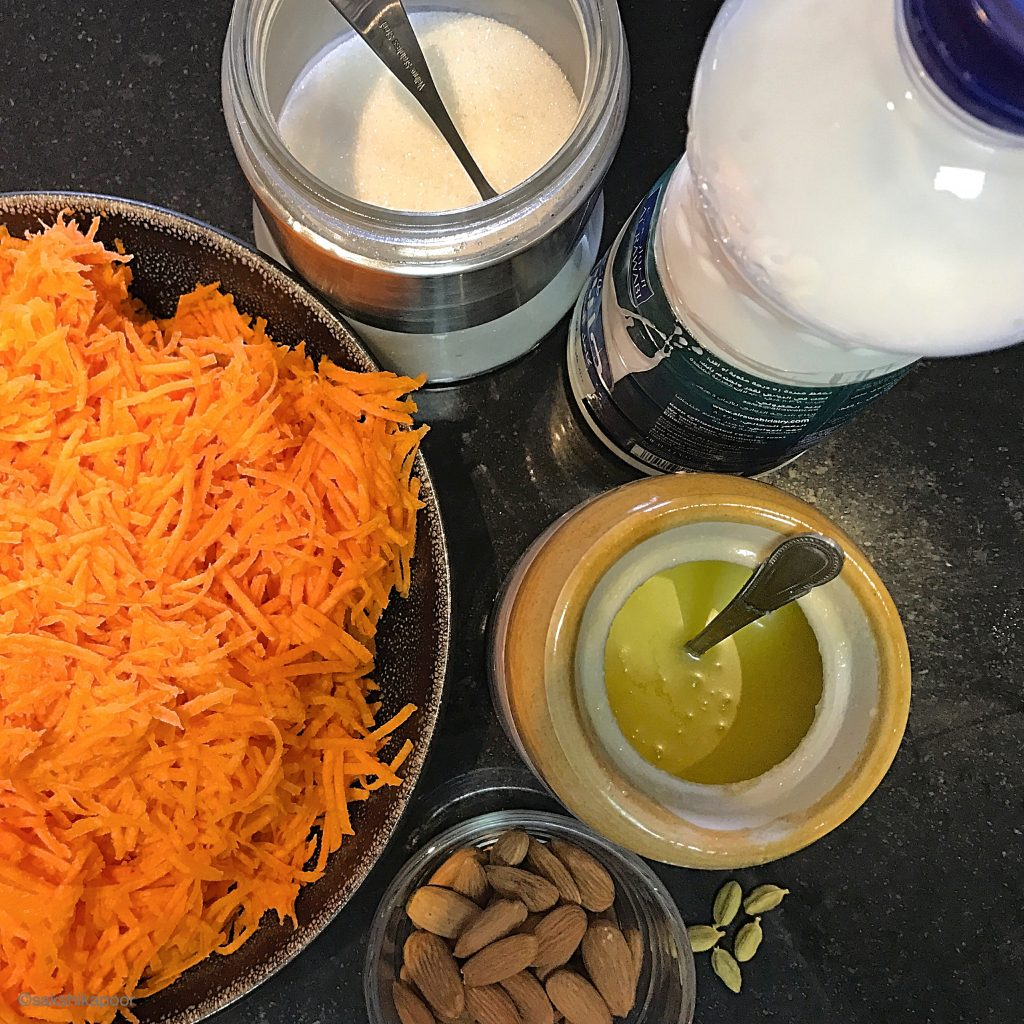 Gajar Halwa Ingredients