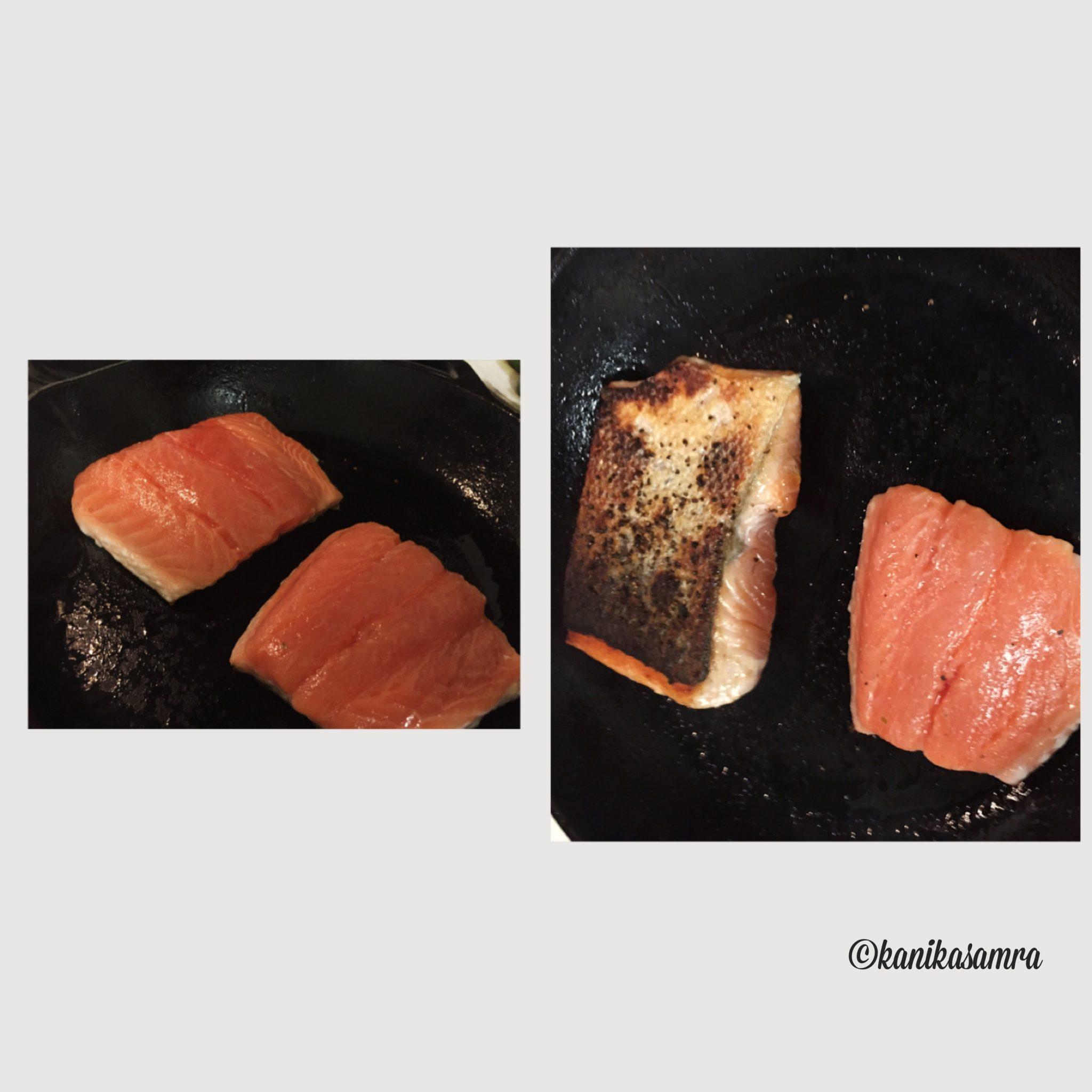 Salmon in the skillet