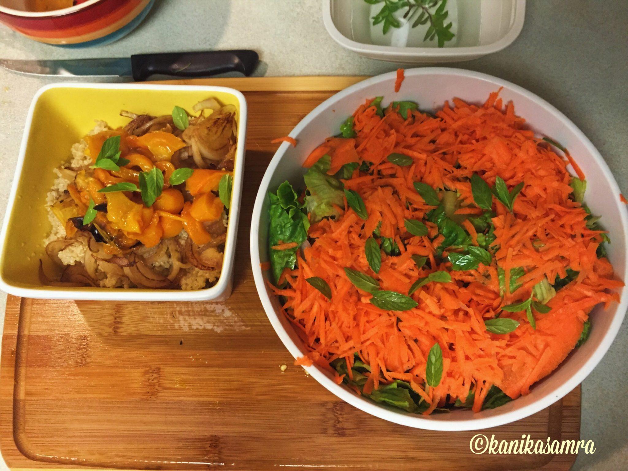 Quinoa and Salad