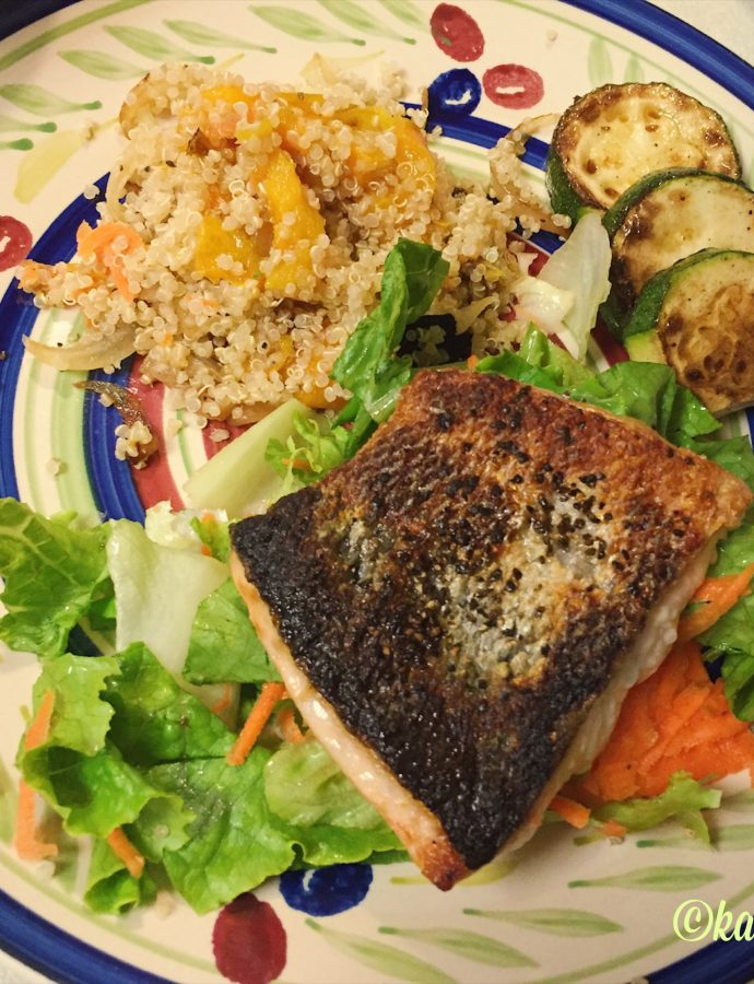 Salmon & Quinoa, A Summer Meal