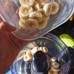Blending frozen bananas