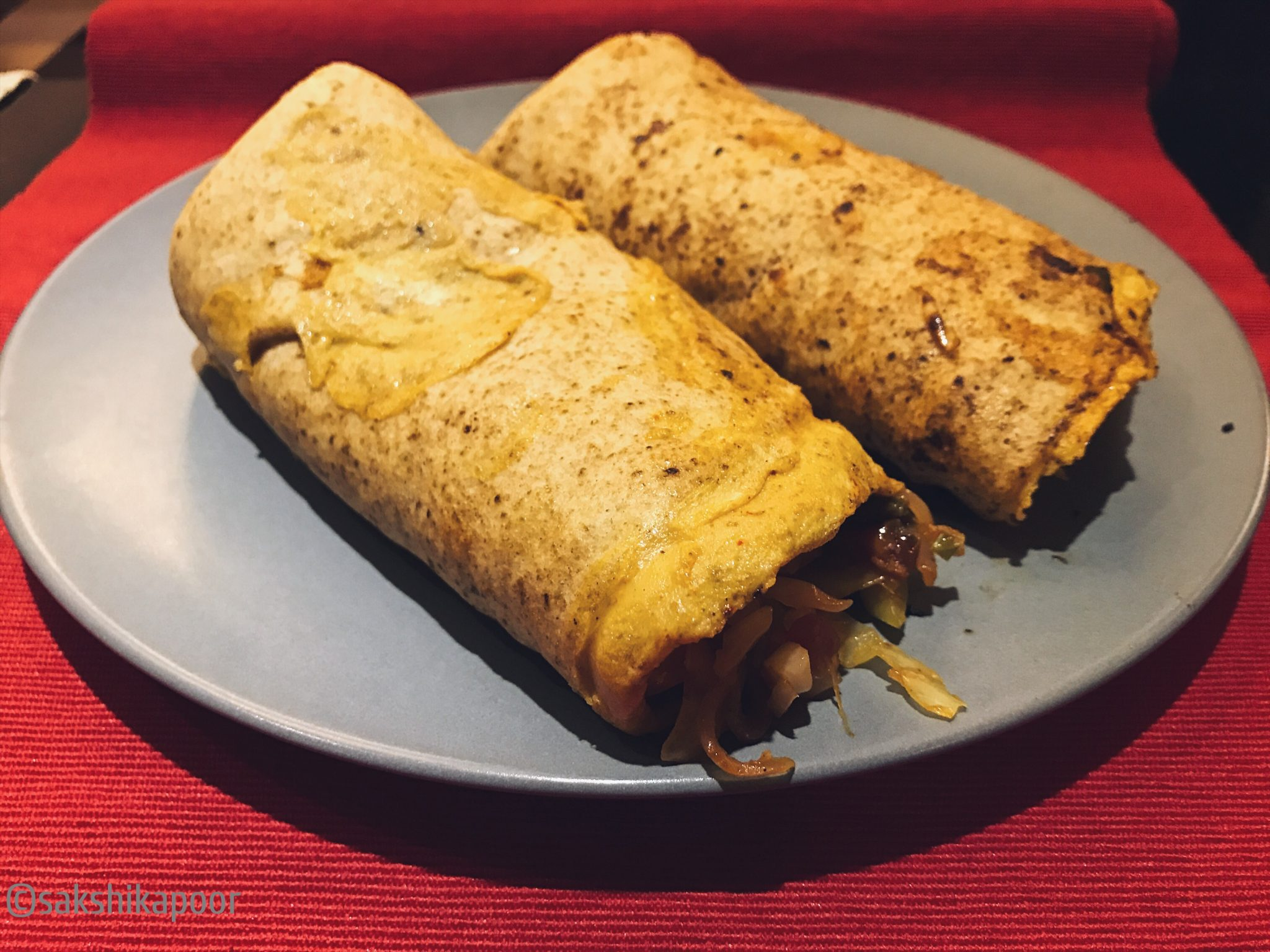 Homemade Healthy Kathi rolls