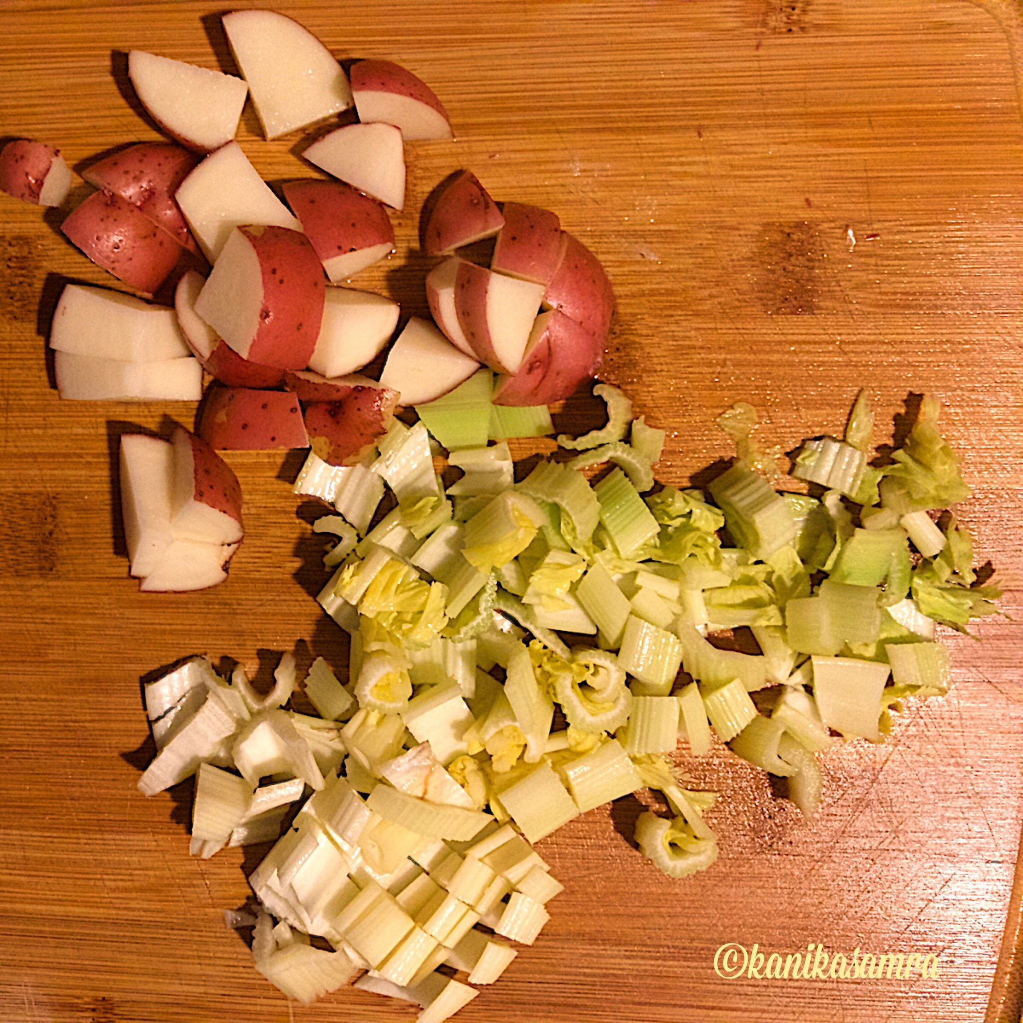 Potatoes and Celery