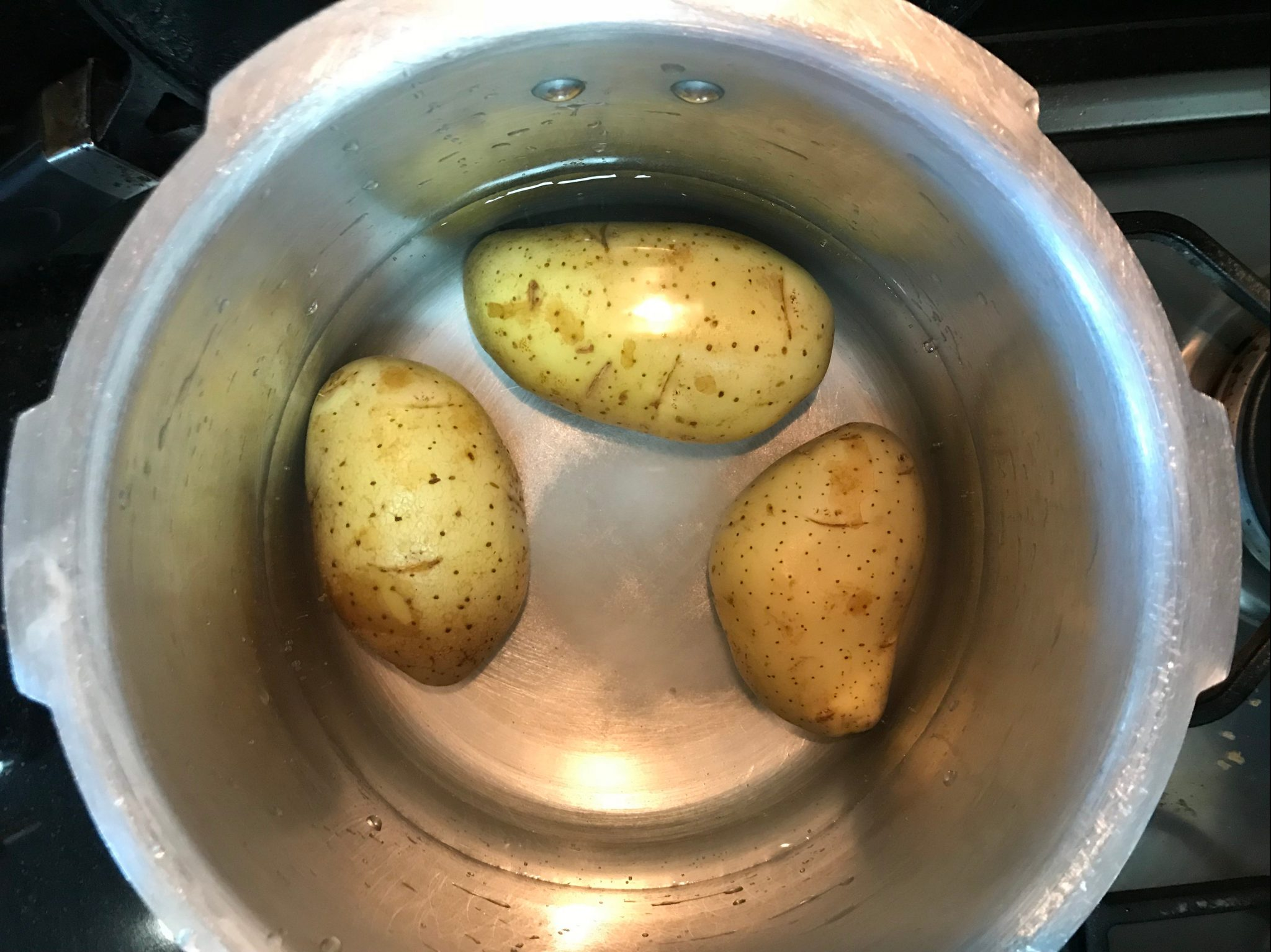 Boiling Potatoes for Chaat