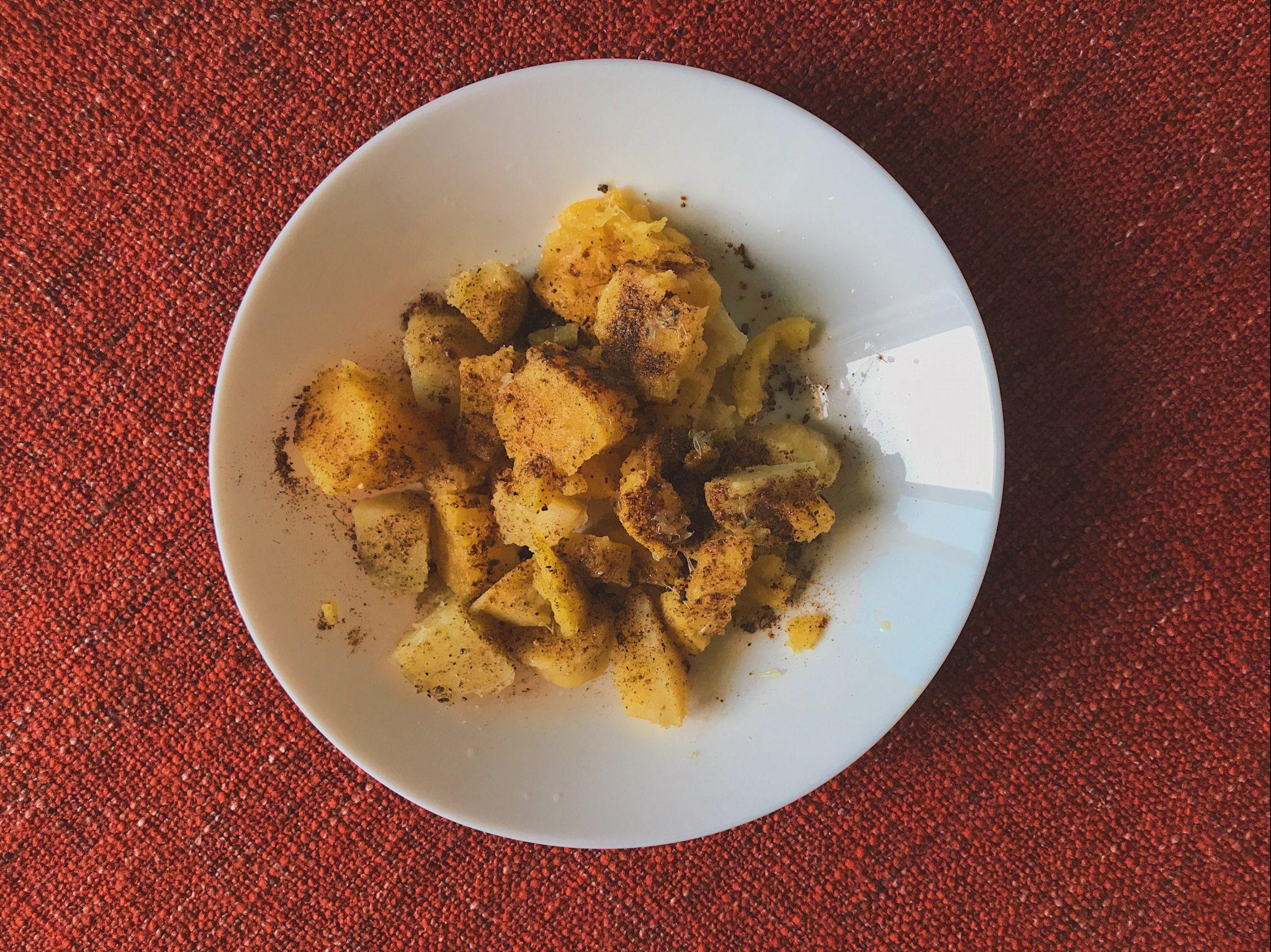 Shakarkandi chaat, sweet potato chaat