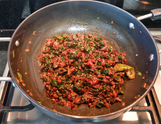 How to use Beet greens in a dal recipe