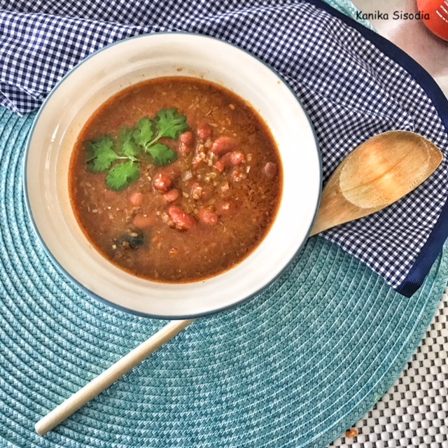 Instant Pot Rajma – Curried Kidney Beans