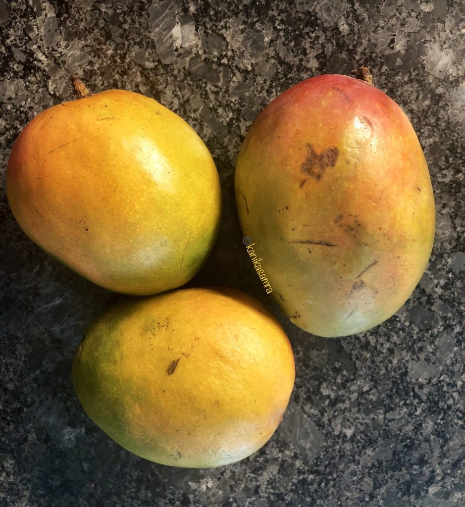 Ripe mangoes for chutney