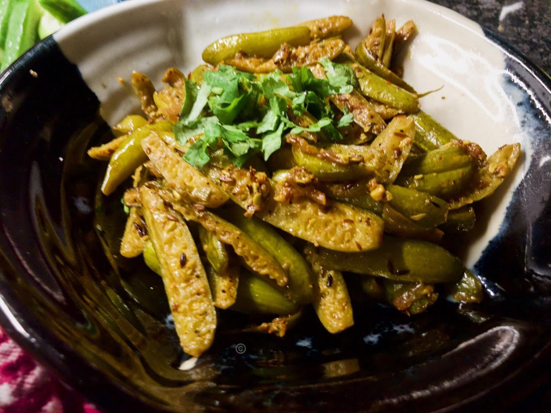 Sauteed Kundru or Ivy Gourd for Kundru Sabzi