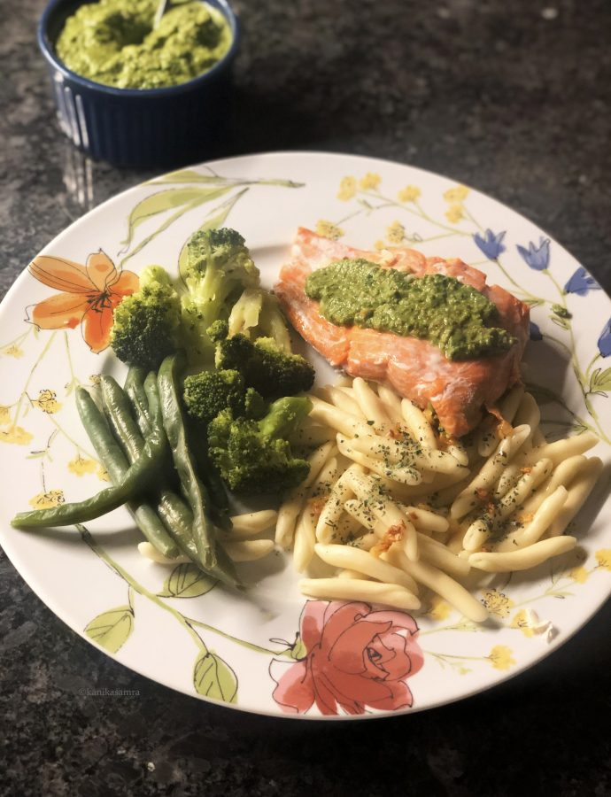 Steamed Salmon for Dinner