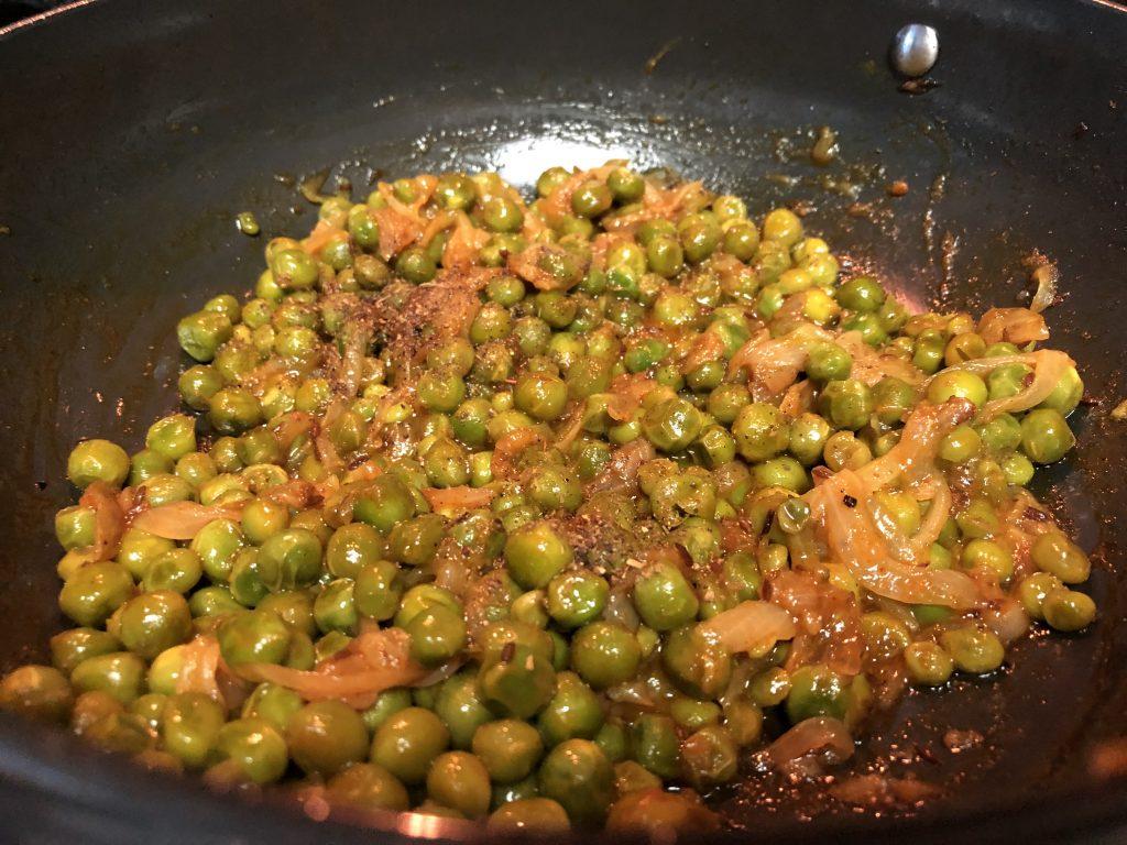 Indian green peas stir fry recipe