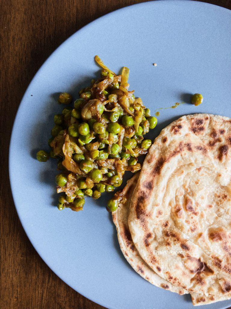 Green peas stir fry recipe