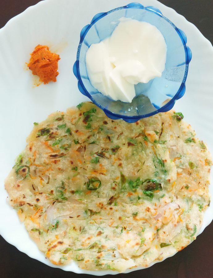 Akki Roti ~ Rice flour flatbread