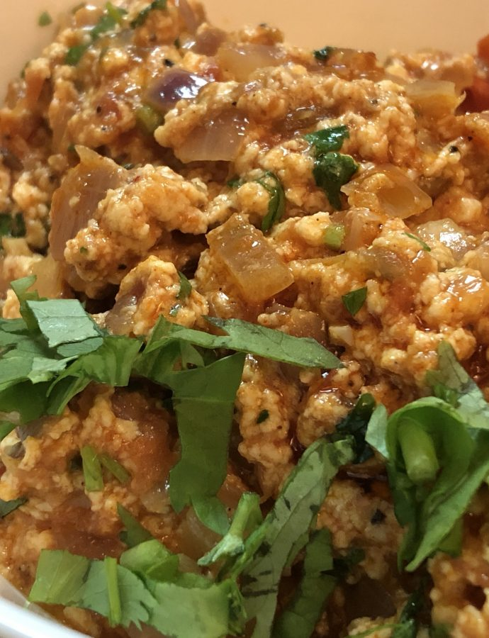 Paneer Bhurji – Indian Cottage Cheese Scramble