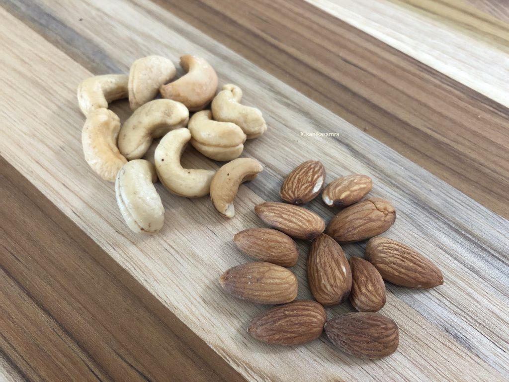 almonds and cashews