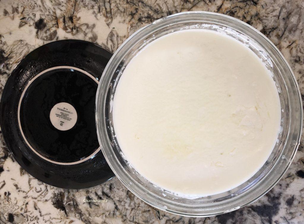Chilled yogurt