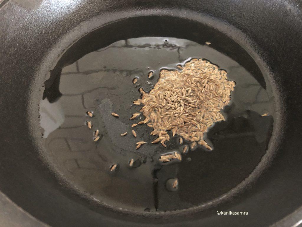 Tadka for boiled arbi